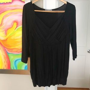NY COLLECTION Open Neck Stretch Top